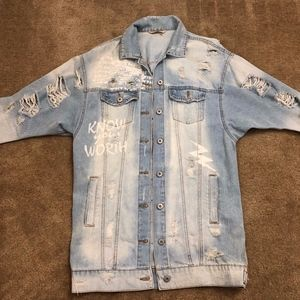 Highway Jeans Ripped Jean Jacket (M)